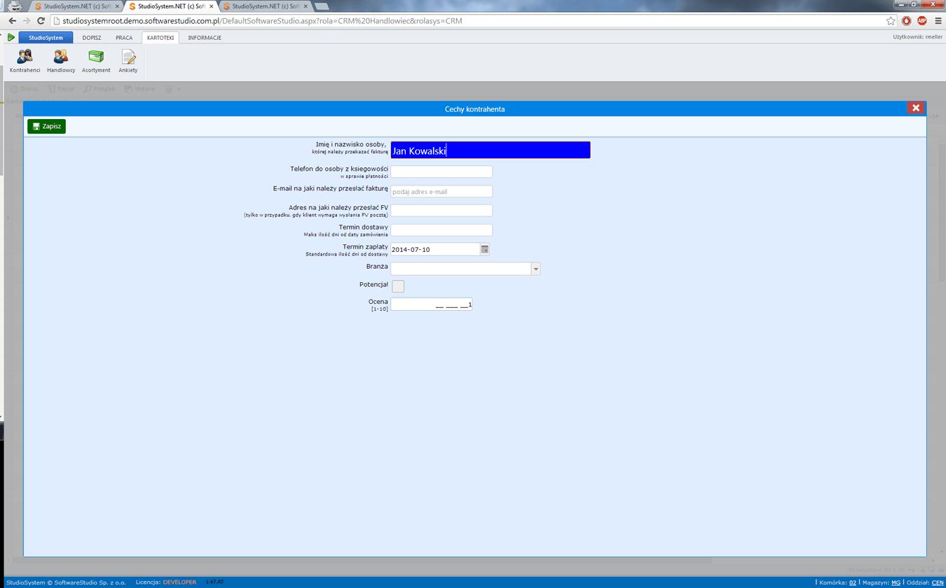 x_mail wybór dw
