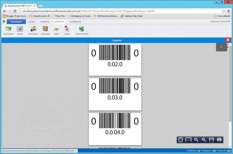 seryjne drukowanie etykiet podgląd pdf