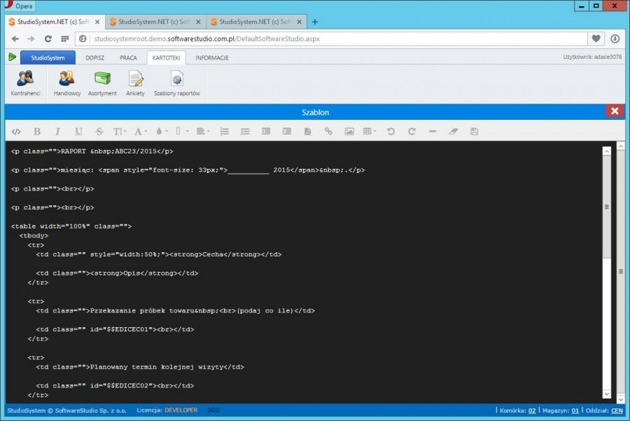 szablon source html