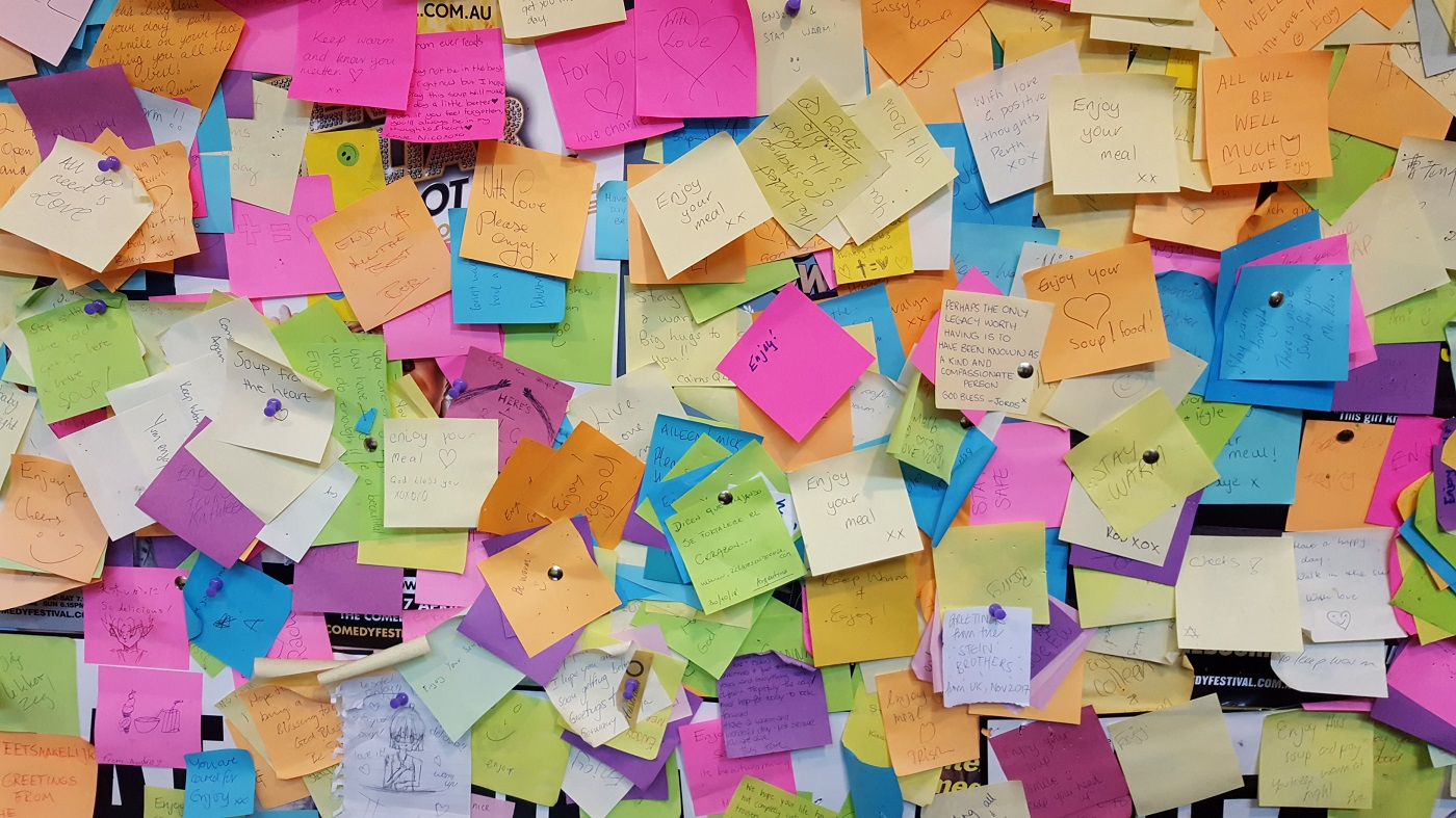 Post Its Bunt Chaos 2